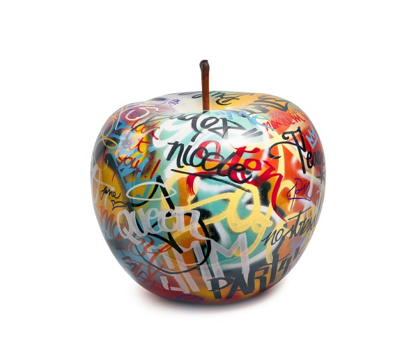 apple - medium plus - graffiti - ceramic - indoor