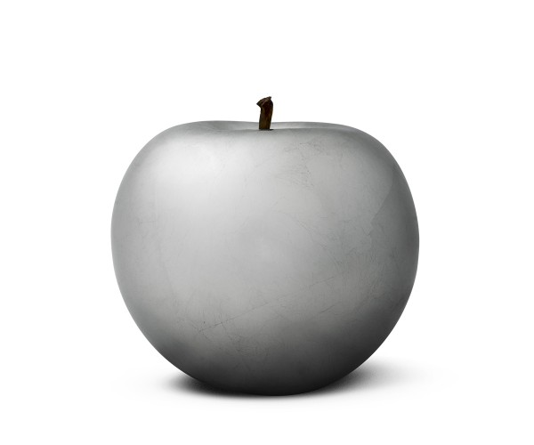 apple - double giant - silver plated - fibre-resin - indoor