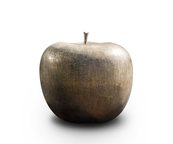 apple - sculpture - bronze - foundry bronze - outdoor frostproof