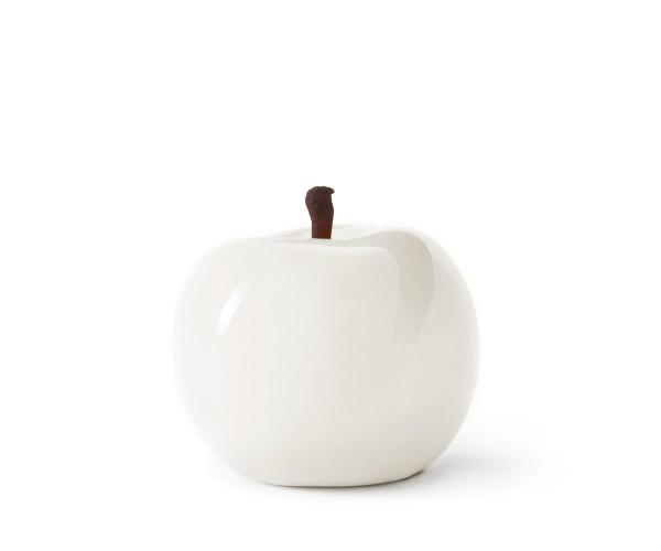 apple - sculpture - white - fibre-resin - outdoor frostproof