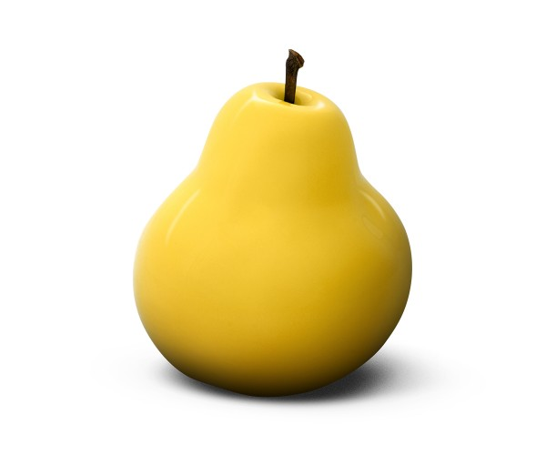 pear - medium plus sixpack - yellow - ceramic - outdoor non frostproof