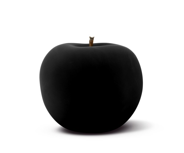 apple - sculpture - black velvet matte - ceramic - indoor
