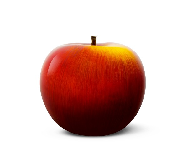 apple - medium plus - red-yellow - ceramic - indoor