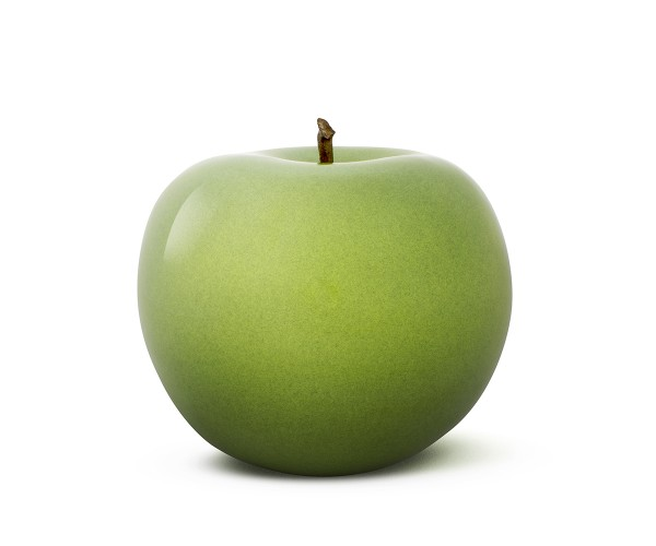 apple - large - green - ceramic - outdoor non frostproof