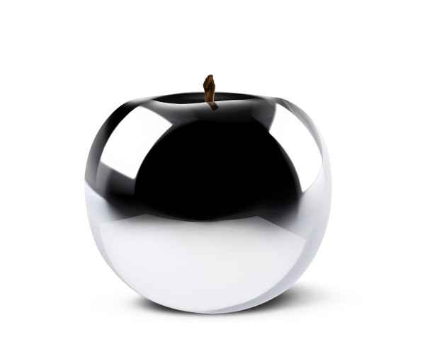 apple - giant - chrome - fibre-resin - outdoor frostproof
