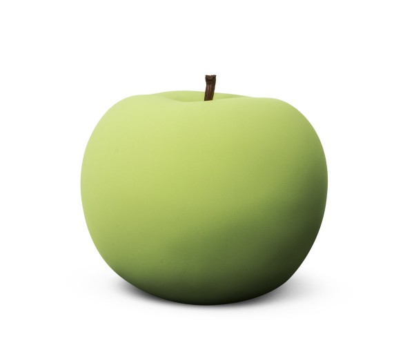 apple - large - green velvet matte - ceramic - indoor