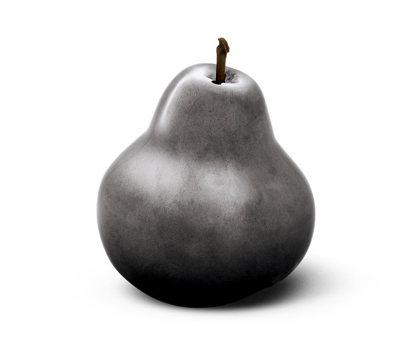 pear - medium plus - anthracite - ceramic - outdoor non frostproof