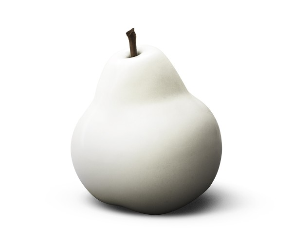 pear - medium plus - white - ceramic - outdoor non frostproof