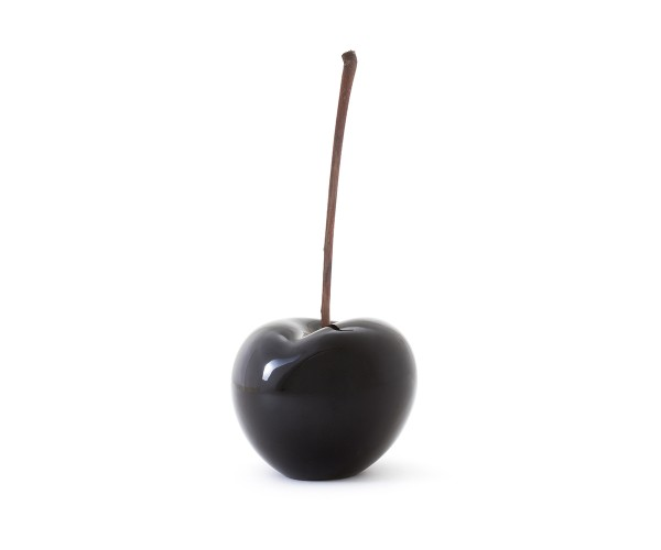 cherry - sculpture - black - ceramic - outdoor non frostproof