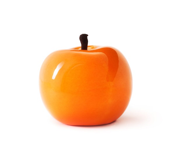 apple - sculpture - orange - fibre-resin - outdoor frostproof
