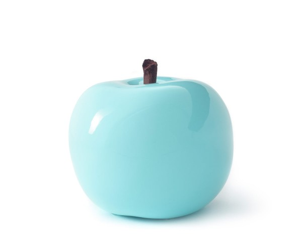 apple - double giant - turquoise - fibre-resin - outdoor frostproof
