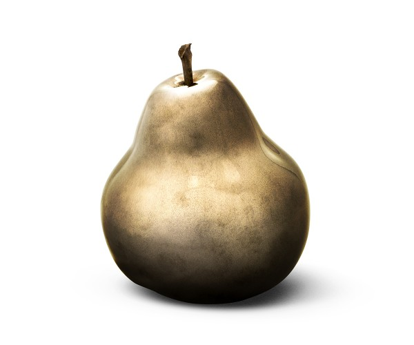 pear - sculpture - bronze - ceramic - outdoor non frostproof