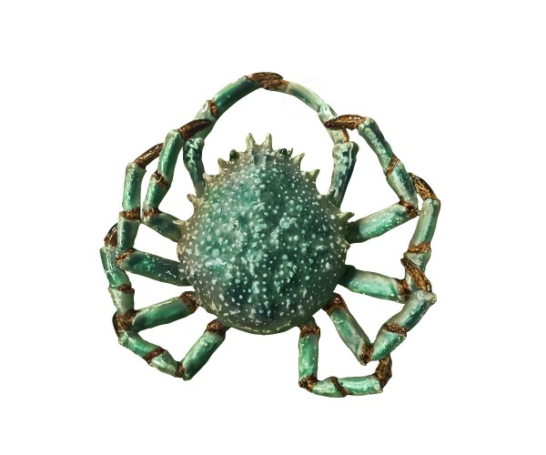 spider crab - large - turquoise-green - ceramic - indoor