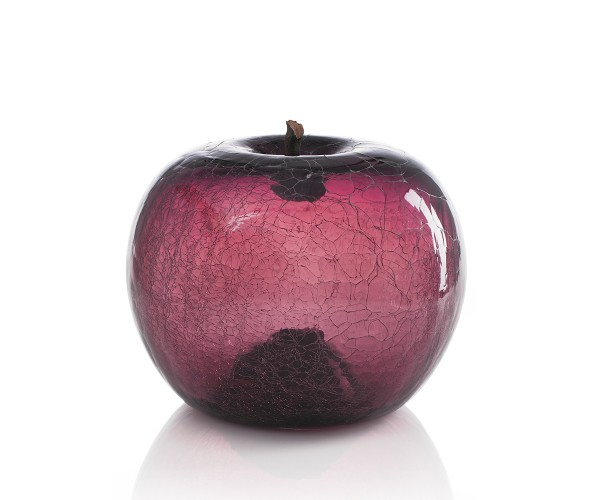 apple - medium plus sixpack - amethyst glass - crackled glass - outdoor non frostproof