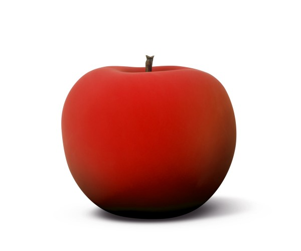 apple - sculpture plus - red velvet matte - fibre-resin - indoor