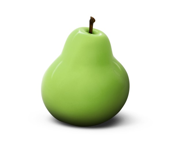 pear - giant - green - fibre-resin - outdoor frostproof