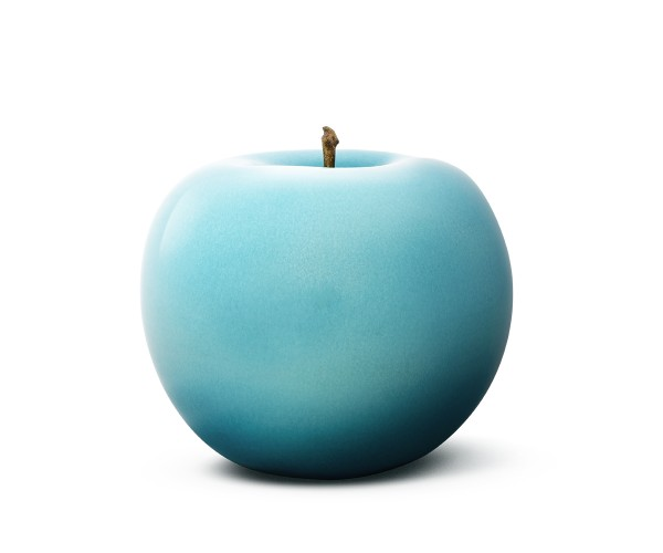 apple - medium plus - turquoise - ceramic - outdoor non frostproof